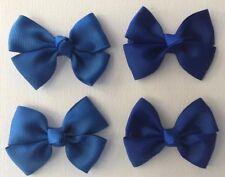 Girls Toddler Hair Bow Pack - Alisha - 4 pieces - Royal Blue - Blue