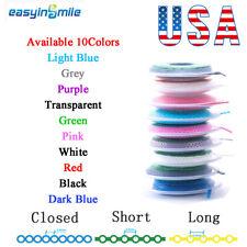 1roll Dental Braces Orthodontic Elastic Power Chains Closedshortlong 10 Colors