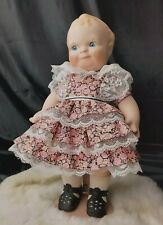"D-246 Scootles 14"" Porcelain Doll By Cameo/Jesco-1990 Original Pink Dress shoes"