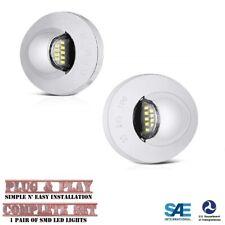 Chrome LED License Plate Tag Light Lamp for Ford F-150 F-250 F-350 Ranger Bronco