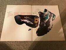 Vintage 1994 NIKE AIR MAX 2 Running Shoes Poster Print Ad 1990s RARE