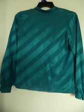 Jones New York Signature  Teal  Polka Dot Long sleeve shirt top Blouse  Sz 6