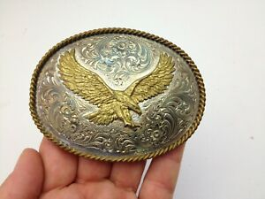 Montana Silversmiths Oval Eagle Belt Buckle