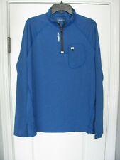 Reebok Blue Pullover Activewear Top 1/4 Zip Long Sleeve Front Zip Pocket Size M