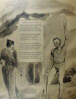 1922 Voll Größe William Blake Großer Druck Illustriert Thomas Die Grays Gedicht
