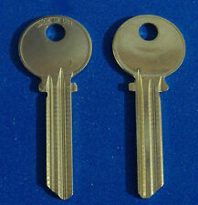TWO KEY BLANKS FIT MEDECO LOCKS ILCO #A1515 NICKEL SILVER LEVEL 1 6-PIN USA
