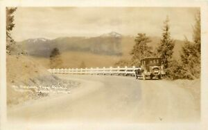 OREGON RPPC POSTCARD: MT. ASHLAND FROM PACIFIC HIGHWAY JACKSON COUNTY OR.