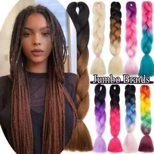 AU 1-5 Packs Jumbo Hair Extensions Kanekalon Braiding Hair Twist Braid For Human