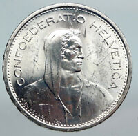 1967 Switzerland Founding HERO WILLIAM TELL 5 Francs Silver Swiss Coin i90303