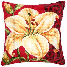 Vervaco Cross Stitch Cushion Kit: 1200/991 White Lily