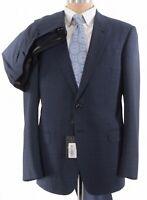 Giorgio Armani Black Label NWT Suit Size 42R In Blue Plaid Wool Stretch $2,895