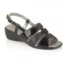 Lotus Wedge Casual 100% Leather Sandals for Women