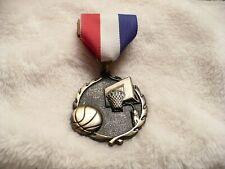 Aaa- 1993 Basketball Medal & Ribbon 1St Pin Award #034