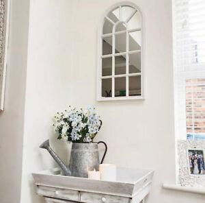 Window Style Mirror, White Tudor Window Mirror, Minimalistic Living, Minimalist