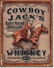 Cowboy Jack's Whiskey USA Metall Werbung Vintage Plakat - Western Reiter