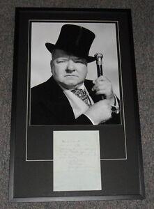 W.C. Fields Signed Framed 1946 Handwritten Letter & Photo Display JSA LOA WC