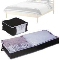 Under Bed Storage Bag Easy Access Zip Duvet Pillow Clothes Fabric Bag Organiser
