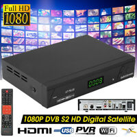 1080P DVB-S2/ T2 HD Digital Satellite TV BOX Receiver USB WIFI W/Remote Control
