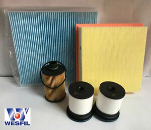 JEEP GRAND CHEROKEE WK 3.0L DIESEL Filter Kit - OIL AIR FUEL CABIN FILTERS  10->