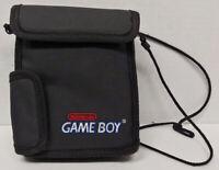 Vintage Original Game Boy Travel Bag Carry System Console Case Black Pockets