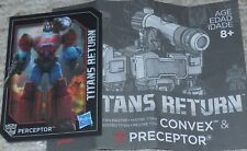 Transformers Titans Return PERCEPTOR Bio Card and Manual