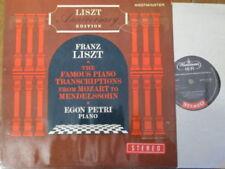 WST 14149 Liszt Famous Piano Transcriptions / Egon Petri