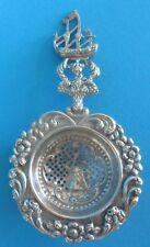 Hollandais Argent massif Figuratif Cuillère 1900 silver tea strainer spoon dutch