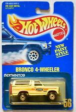 HOT WHEELS 1989 BLUE CARD BRONCO 4-WHEELER #56 WHITE 17 W+