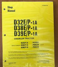 Komatsu D32E/P-1A, D38E/P-1, D39E/P-1 Dozer Bulldozer Service Shop Repair Manual