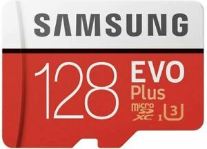 Samsung EVO Plus microSD 100MBs Memory Card with Adapter 128GB