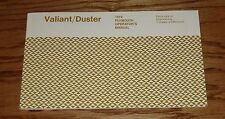 1974 Plymouth Valiant / Duster Owners Operators Manual 74