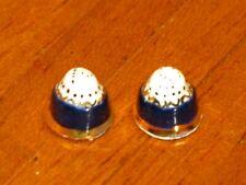 Jean Yingling Salt & Pepper Caster Set Cobalt Blue Artisan Dollhouse Miniature