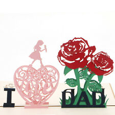 3D Pop Up I Love Dad Greeting Valentines Card Christmas Birthday Invitation Gift