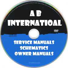 AB International Service Owner Manual & Schematic- PDFs on DVD - Huge Collection
