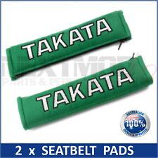 2 x JDM TAKATA GREEN SEAT BELT HARNESS COMFORT PAD, Pair, Bride, Harness, NEW