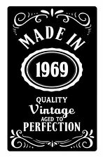 Personalised MADE IN Your Year Aged To Perfection Metal Aluminium Plaque Sign