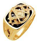 New 10k 14k White or Yellow Gold Masonic Blue Lodge Freemason Ring