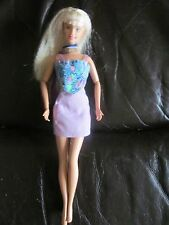 70s crimped hair barbie with scarf.earrings and original skirt