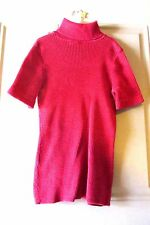 Basic Editions Red Turtleneck Sweater Tunic Size S/C