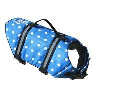 Paws Aboard doggy life jacket vest XX small 0-6 lbs dog K9 Blue Polka dots XXS