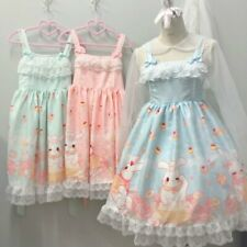 Dessert Rabbit Print Cute Girl's Lolita Dress Sleeveless JSK Dress One Piece