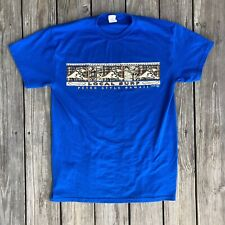Island Motion Local Surf Skate Petro Style Hawaii Beach Wave Art Blue T Shirt M