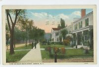 View on South Main Street GENEVA NY Vintage New York Postcard