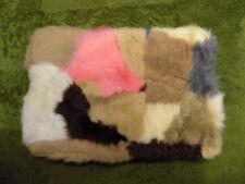 GENUINE Pink Brown Beige SHEEPSKIN RUG NURSERY, SEAT, PET BEDDING, MAT 51 x 33cm