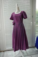 S bis XL blau mit Punkten weich fallend 511 PEPE Kleid Chiffonkleid Gr