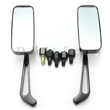 CNC Aluminum Motorcycle Cruiser Chopper Rear View Side Mirrors 8mm 10mm Black N