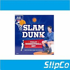 Slam Dunk Novelty Toilet Basketball Set Fun Gadget Game Gift Bathroom Boys Toys