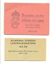 SWEDEN 1946/47 2 x STAMP BOOKLET ** MNH-- F/VF
