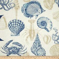 Outdoor Fabric For Garden Conservatory Furniture By the Metre SHELLS Blue