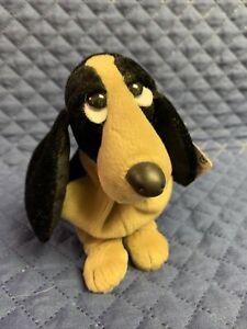 Applause Hush Puppies Bean Bag Plush Basset Hound Dog Tan/Black #2 Jet Black